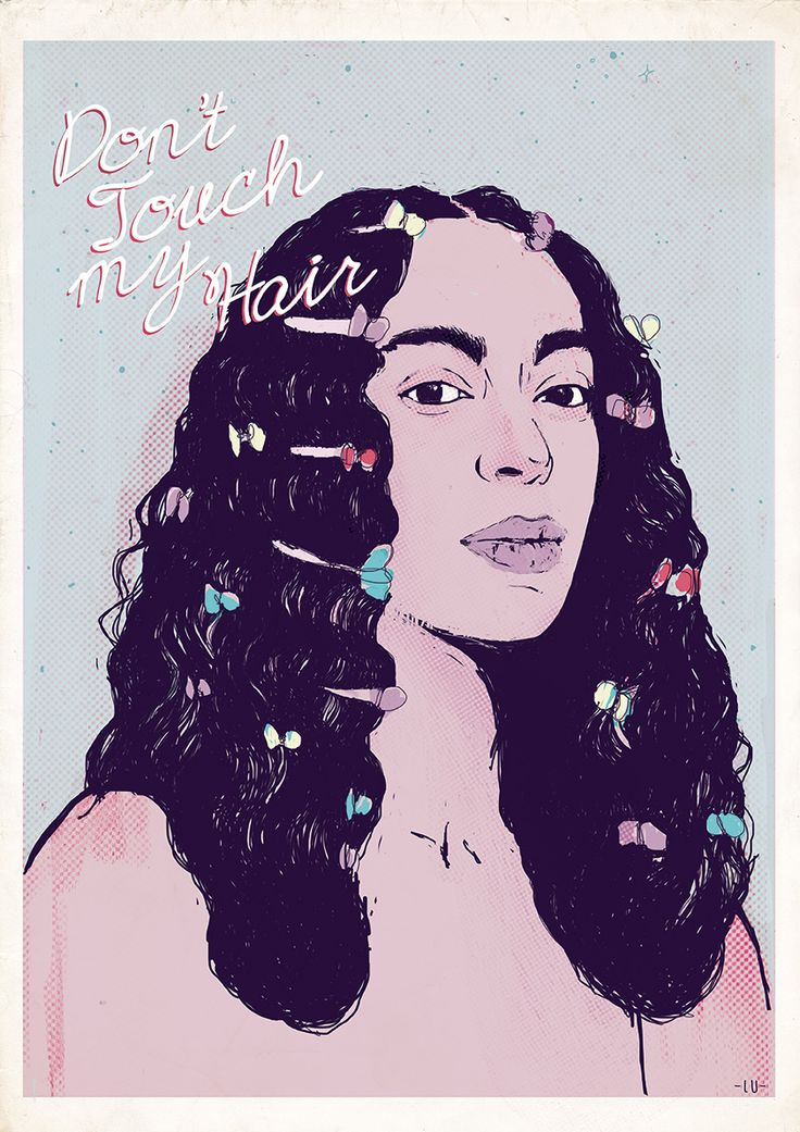 Solange - Don't touch my hair  #solange #poster #illustration #portrait #music #posterart