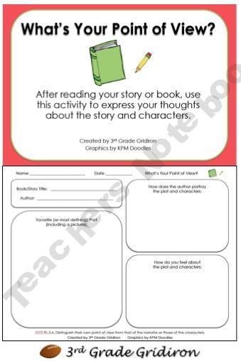 5th Grade point of view worksheets 5th grade : 17 Best images about Point of View on Pinterest | Perspective ...
