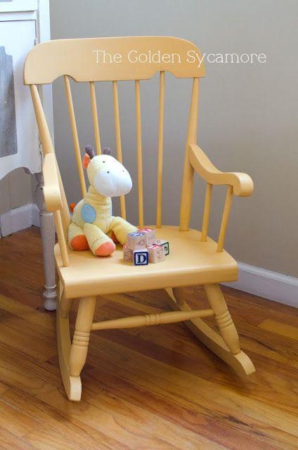 Little Yellow Rocker Furniture Transformation.  *Home & Design ...