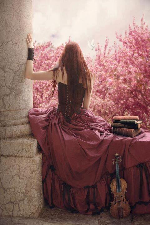 Las pelirrojas, los libros y el violin, una convinacion perfecta, tres de mis grandes amores