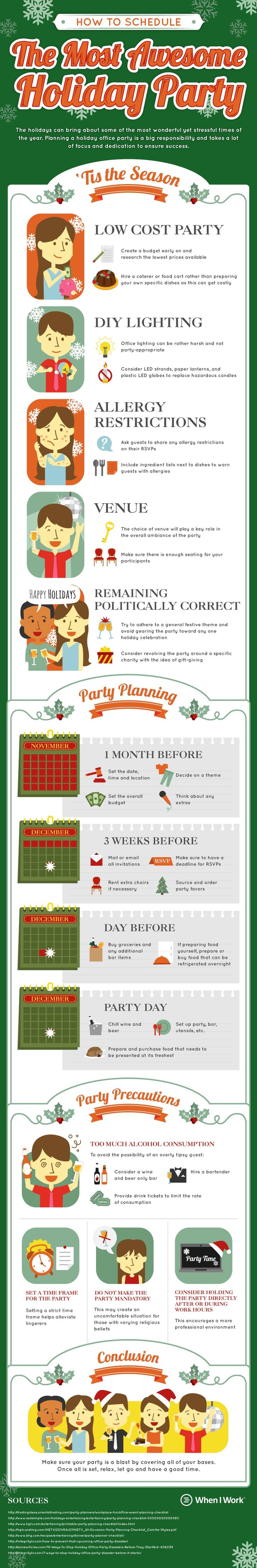 Christmas Party Ideas For Small Business Part - 25: How To Schedule An Awesome Holiday Party [Infographic]