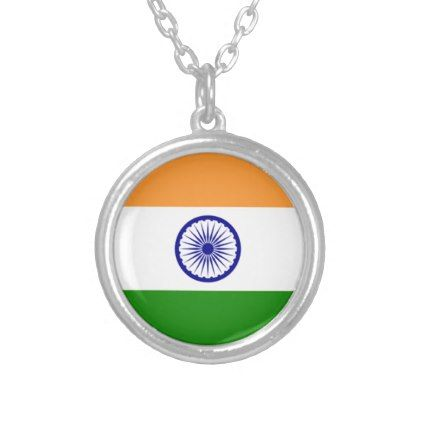 """Good color Indian flag """"Tiranga"""" Silver Plated Necklace - jewelry jewellery unique special diy gift present"""