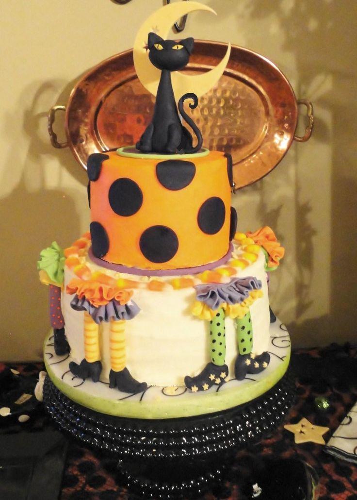 Halloween witch leg cake