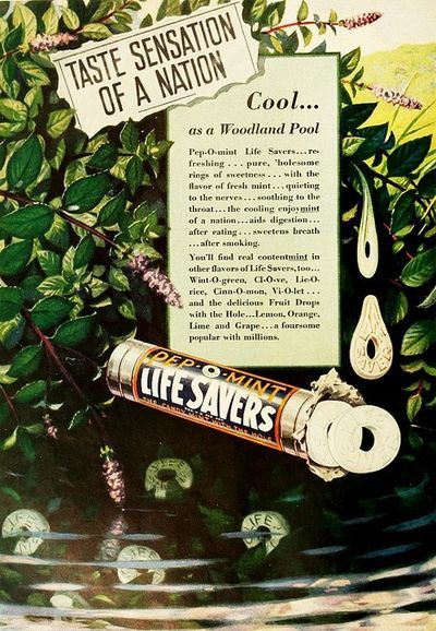 Lifesavers candy ad from the 1930s #vintage #advertising