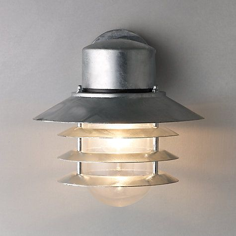 John Lewis Nordlux Vejers Outdoor Wall Light, Galvanised Steel