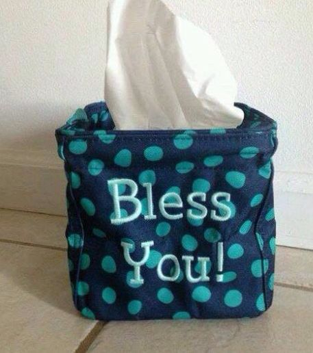 Bless you! The Littles Carry-All Caddy is just what you need during flu season and in the classroom to hold tissues.