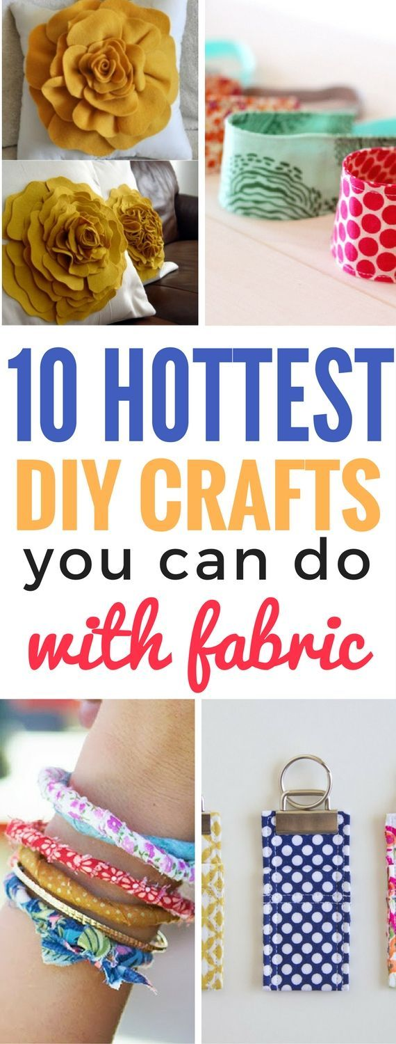 10 DIY Crafts You Can Do With Fabric - I'm so IN LOVE with these fabric crafts. So many awesome diy projects that one can do with leftover fabric. Definitely saving for later!!