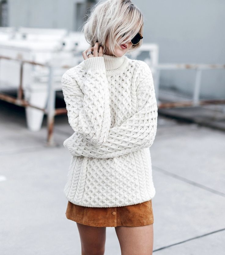 cable knit + suede