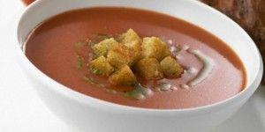 Ντοματόσουπα με γιαούρτι
