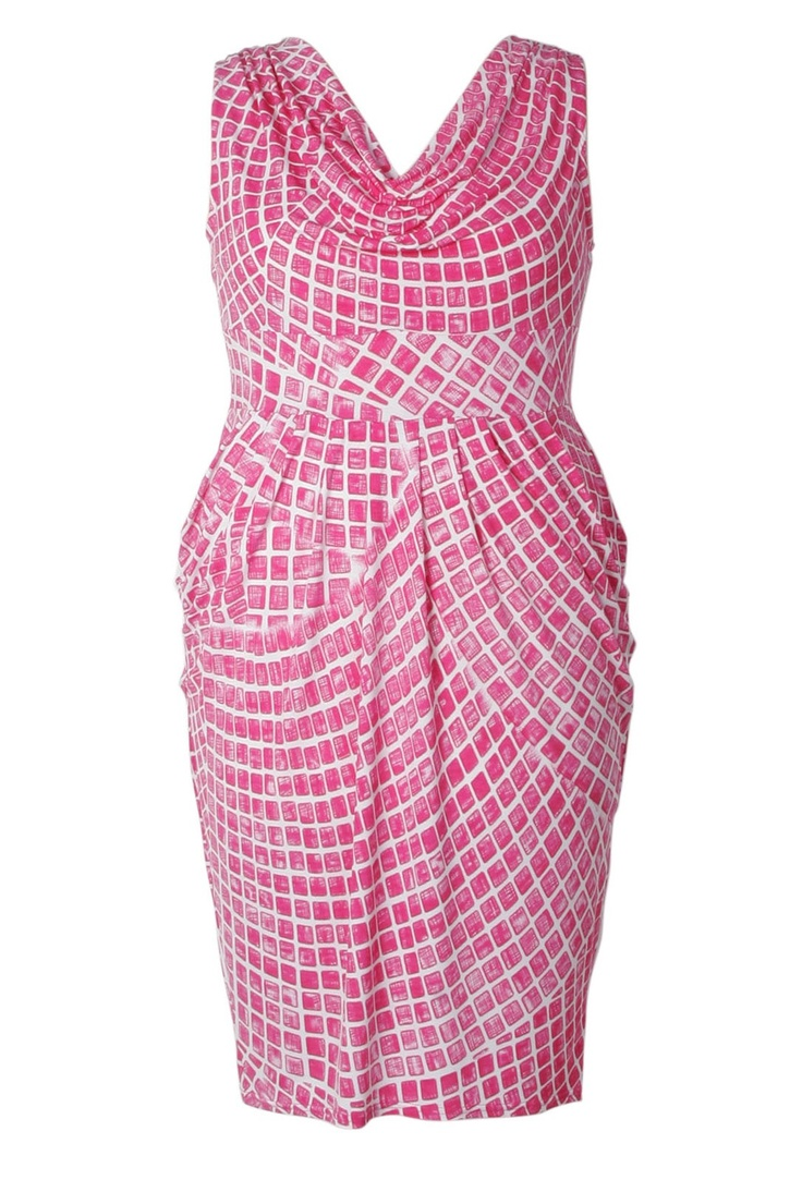 Jersey Cowl Neck Dress - Plus Size
