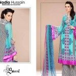 Nadia Hussain Embroidered Eid Collection 2014 for Women by Shariq textiles: Available in Stores from 21st June 2014