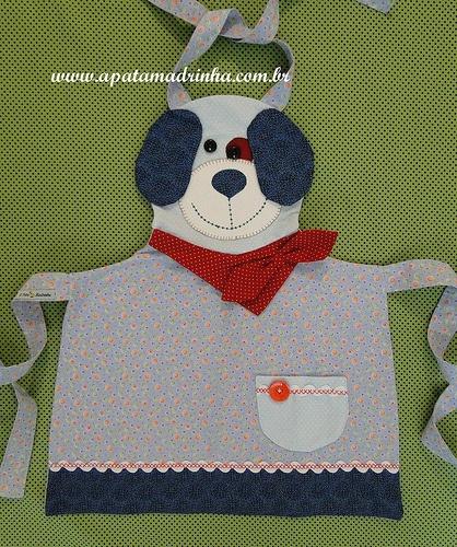 Avental infantil  by A Pata Madrinha.com.br