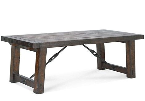 Reclaimed wood dining table cool metal supports for Dining table support