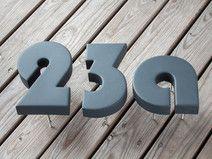Beton Buchstaben für Hausnummer Bauhaus  ANTHRAZIT