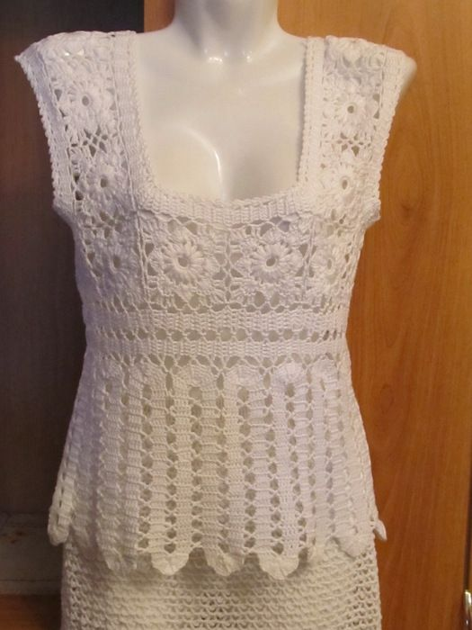 Crochet Short Sleeve - with diagrams at source
