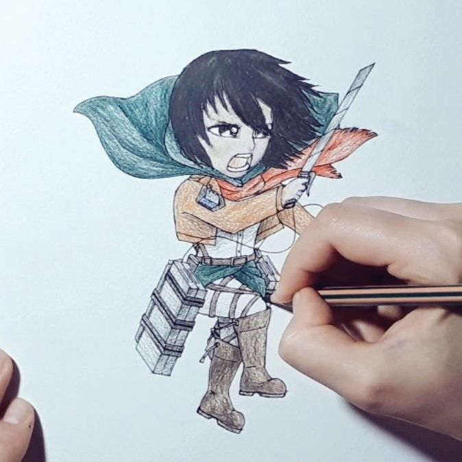 Colour Your Chibi Mikasa With My New Video Drawing Tutorial Chibi Drawings