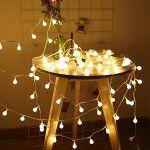 Guirlande Lumineuse à LED, Skitic Ball de Lumières 5M 40 Leds Batterie Globe Exploité Fairy Lights pour Jardin Intérieur, Extérieur, Arbre…