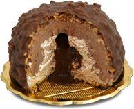 Laz Rocher - Gelato di bufala alla gianduia e nocciola ricoperto di cioccolato gianduia e nocciole intere, con cuore morbido di cioccolato.