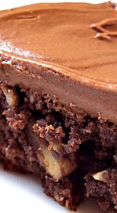 Hershey's Best Brownie ~ very moist and chocolatey, the frosting is outrageously good!