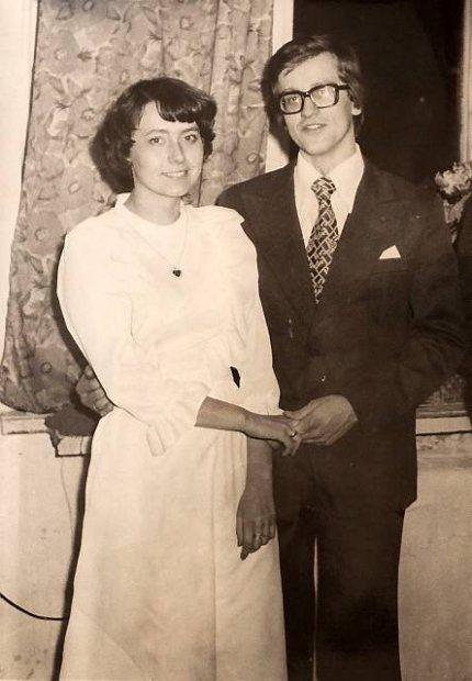 Zdjęcie ślubne Bronisława i Anny Komorowskich, Warszawa 1977