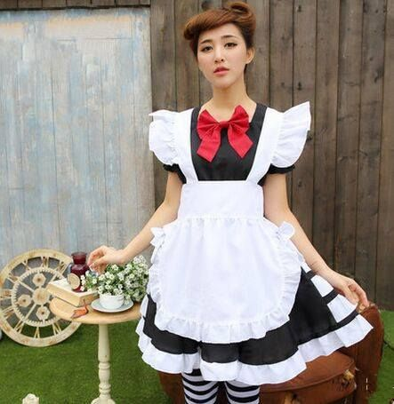 japan maid dress sissy maid cosplay chinese maid clothes cute maid dress halloween costumes for women  sc 1 st  Pinterest & 78 best Cute Maid Dresses images on Pinterest | House cleaners Maid ...
