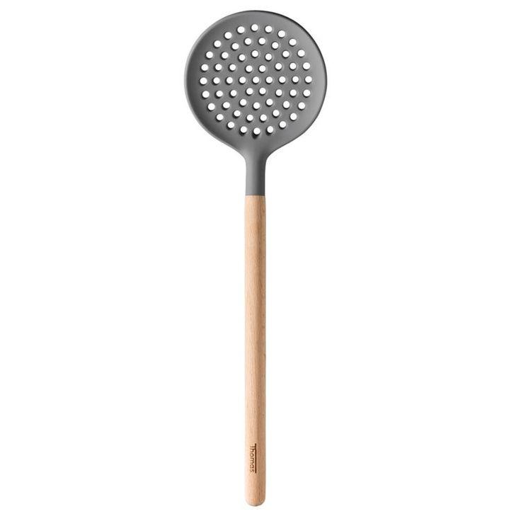 Thomas Kitchen De siliconen koppen van het keukengerei maken geen krassen in de pannen of op je servies en zijn hittebestendig tot 220°C.