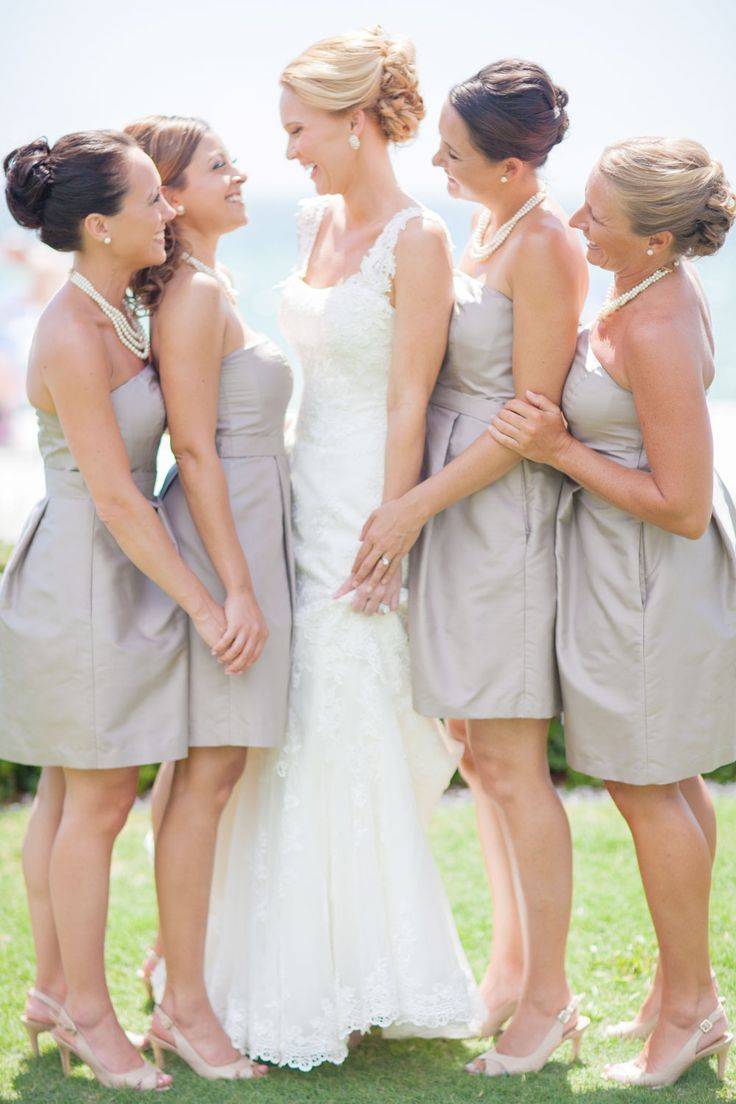 50 best bridedsmaid dresses images on pinterest marriage jamie and her bridesmaids beautifully styled in these soft mocha dresses by alfred sung we ombrellifo Image collections