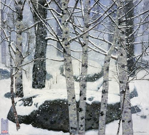 Painting Tree Trunks White