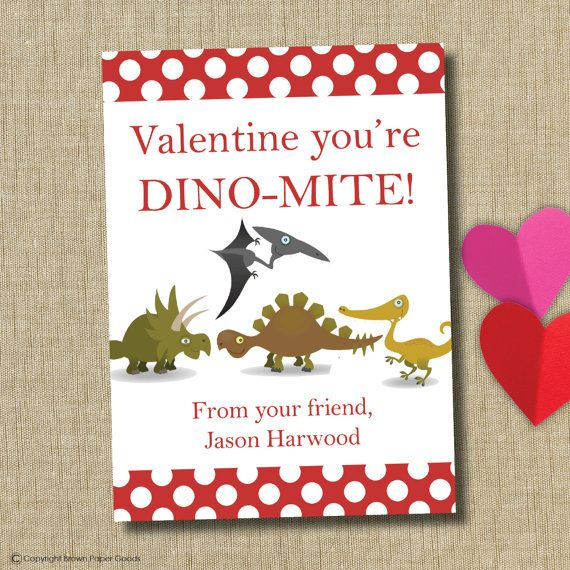 Free Printable Dinosaur Valentines Dino Valentine Header Paper