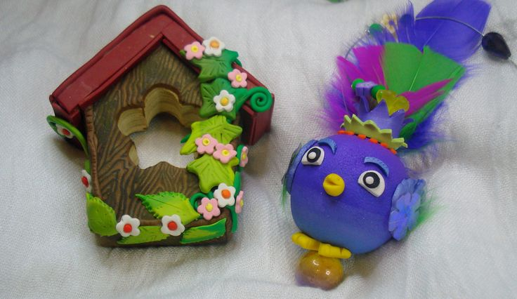 https://flic.kr/p/HLHCJs | Living in the garden - Mobile - handmade- polymer clay