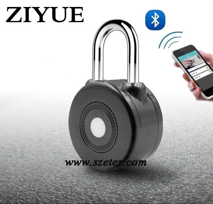 Free Shipping Waterproof Outdoor Bluetooth Wireless App Control Smart Bluetooth Padlock for Entry Door Lock or Bicycle Bike