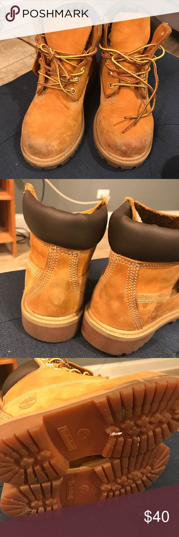 Wheat Timberland Boots Needs to be cleaned. Timberland Shoes Boots