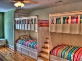 Love the stairs and multiple bunk beds!