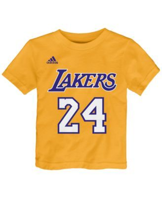 adidas Toddlers' Kobe Bryant Los Angeles Lakers Warriors Name And Number T-Shirt - Gold 4T