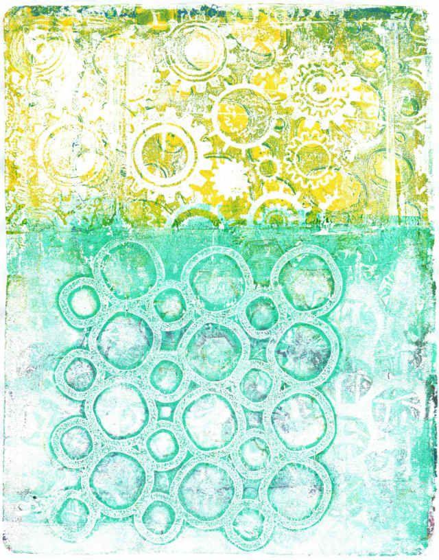 Gelli plate prints   by creativemind8521