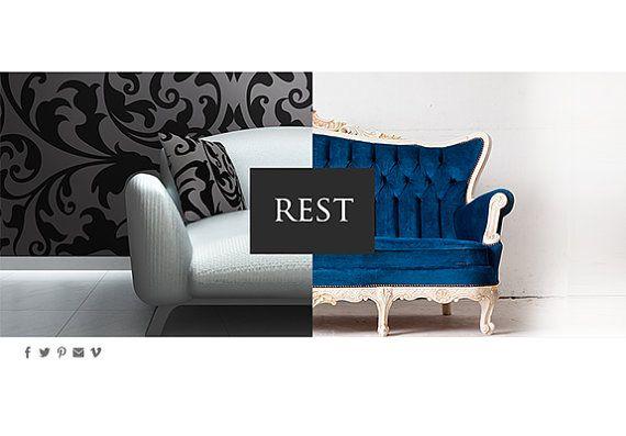 SALE web design concept: designer boutique by MadameLevasseur