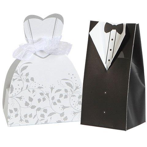 Bride & Groom Wedding Favor Boxes, 10-ct. Packs
