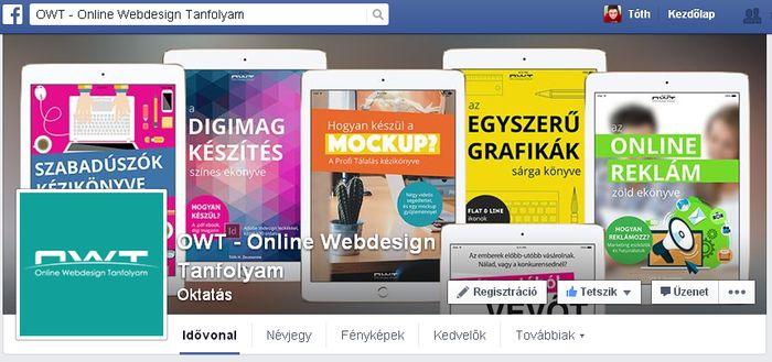 Néhány hónapja csatlakoztam a OWT - Webdesign & Marketing Facebook csoporthoz. Szakmai pályafutásom egyik legjobb döntése volt.. :-). Remek cikkek, ajánlók, leírások, grafikai megoldások.