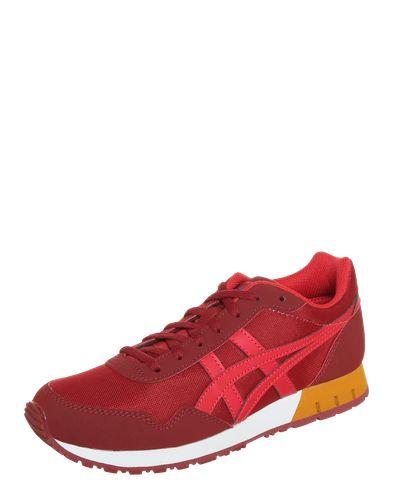#Asics #Tiger #Damen #Sneaker #Curreo #rot Sneaker ´Curreo´ kombiniert den wunderbar sportlichen Style der Neunziger mit neuen Farben. Er weist eine stabilisierende Laufsohle auf und eine Oberfläche in Mesh-Optik. Coolness in neuer Dimension!