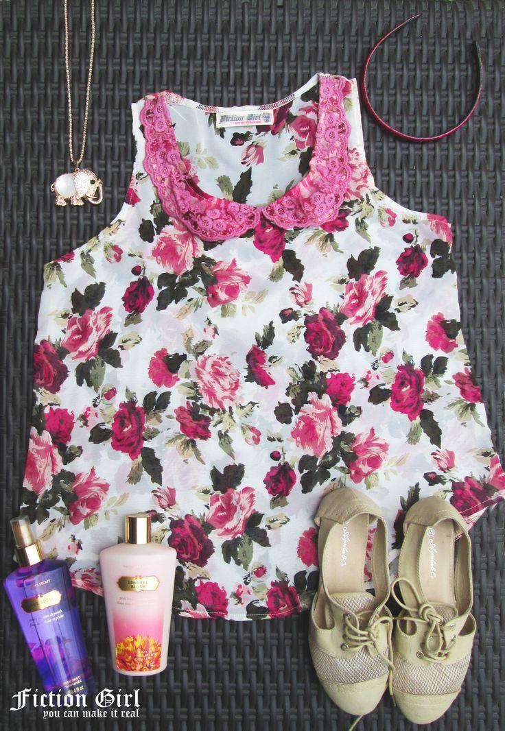 blusa de gasa floreada vipure