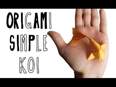 Bellisimo y por fin un poco mas facil!▶ Origami Simple Koi (Riccardo Foschi) - YouTube