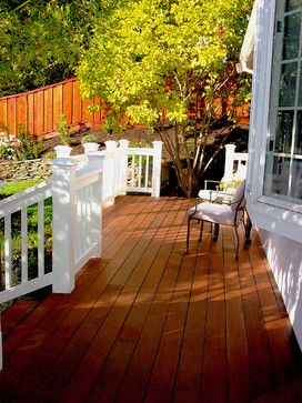 Stained/Painted deck idea - really liking the combination of the two!