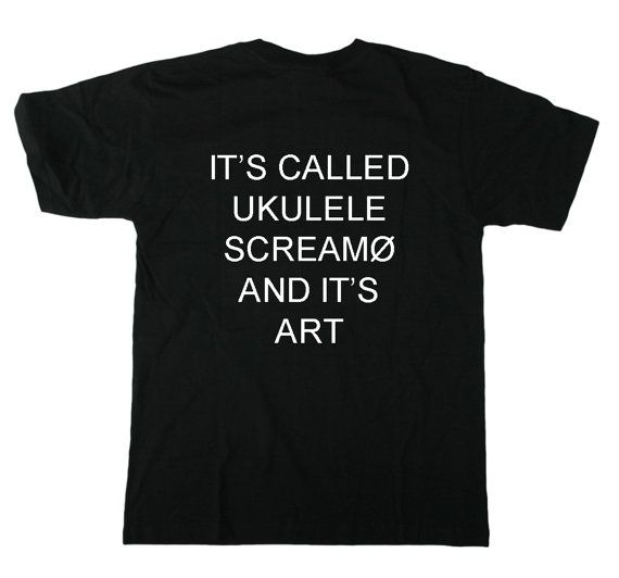 Twenty One Pilots: Ukulele Screamo Tee by simplymerch on Etsy