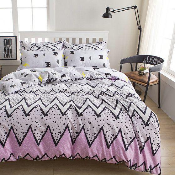 Biele obojstranné posteľné obliečky 140cmx200cm