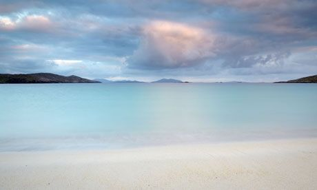 White sand, blue sea, it must be ... Huisinis beach in Scotland.