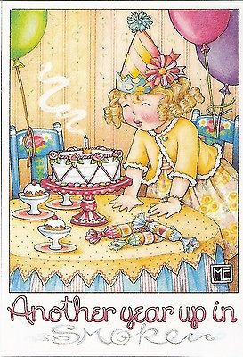 Another Year Up in Smoke Birthday Party Popper Fridge Magnet Mary Engelbreit Art | eBay