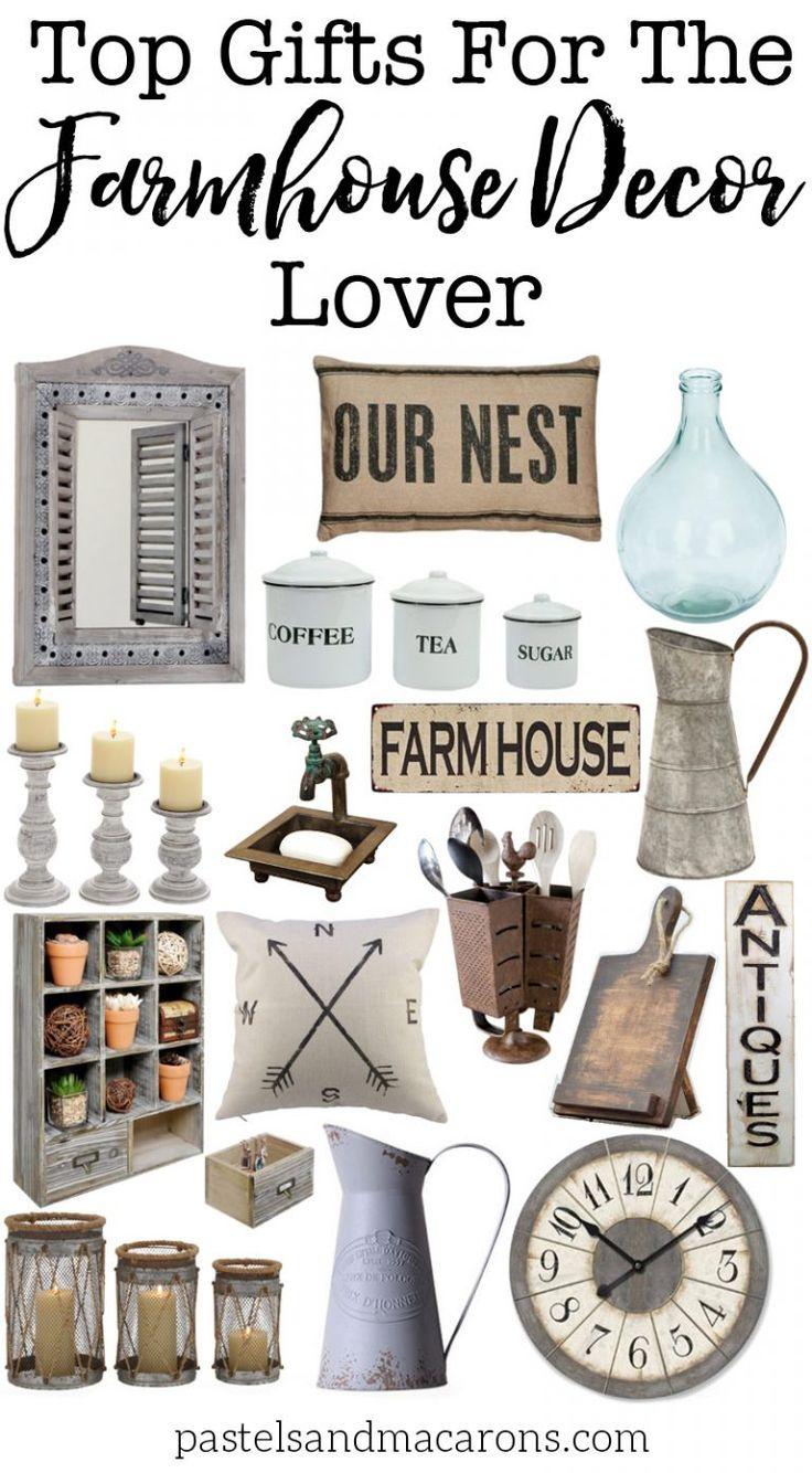 Farmhouse Gift Ideas for the Farmhouse Decor Lover. Beautiful Farmhouse style decor picks.