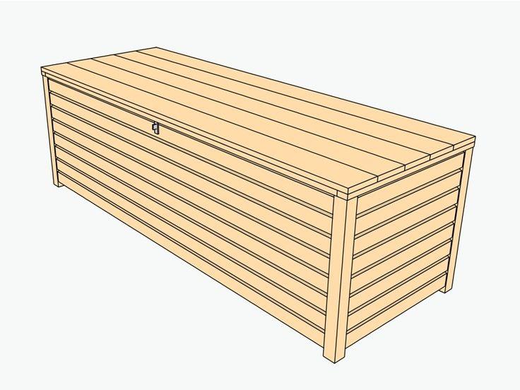 Auflagenbox / Kissenbox Holz XL
