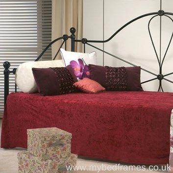 Regency black metal day bed - #bedroom #furniture