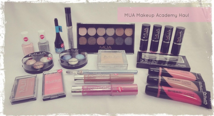 MUA Makeup Academy Make-Up Haul, have a lot of their products and I love the brand!